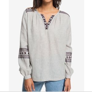 Roxy Embroidered Tunic Top